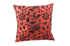Rood decoratief hoofdkussen Stock Afbeelding