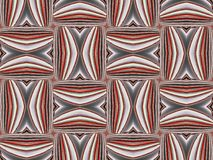 Rood decoratieornament Geometrisch patroon royalty-vrije illustratie