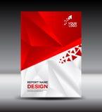 Rood Dekkingsontwerp en de vectorillustratie van het Dekkings jaarverslag, boe-geroep royalty-vrije illustratie