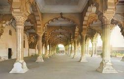 Rood die Fort in Agra, India wordt gevestigd Stock Afbeeldingen