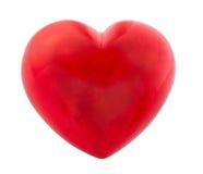 Rood die hart op wit wordt geïsoleerd Royalty-vrije Stock Afbeelding