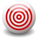 Rood doel, bullseye, nauwkeurigheid, precisiepictogram - Concentrische circ Stock Foto