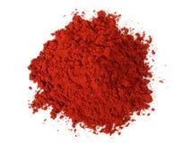Rood Dragon Resin Powder stock afbeeldingen