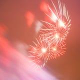 Rood dromerig vuurwerk royalty-vrije stock afbeelding