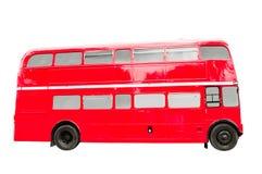 Rood Dubbel Decker Bus Stock Afbeelding