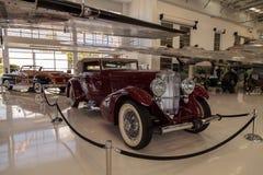 Rood 1935 Duesenberg Modelj Royalty-vrije Stock Foto's
