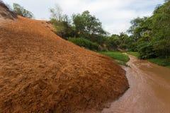Rood duin en rood zand, Mui Ne, Phan Thiet, Vietnam stock fotografie