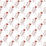 Rood dun naadloos patroon Stock Foto's