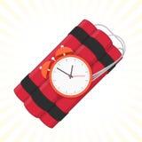 Rood dynamiet met tijdopnemer vector illustratie