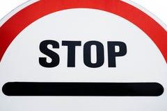Rood eindeteken Signage van de verkeers regelgevende waarschuwing De waarschuwing van het eindeverkeer royalty-vrije illustratie
