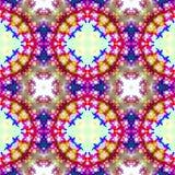 Rood en blauw abstract naadloos patroon Stock Afbeeldingen
