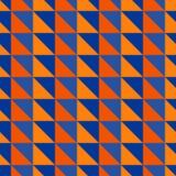 Rood en blauw abstract patroon met driehoeken Stock Foto's