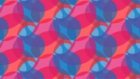 Rood en blauw abstract vormenpatroon stock illustratie