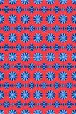 Rood en blauw cirkelpatroon Royalty-vrije Stock Afbeeldingen