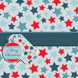 Rood en blauw sterpatroon Stock Fotografie