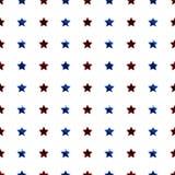 Rood en blauw sterren naadloos patroon royalty-vrije illustratie