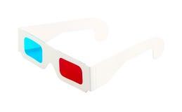 Rood-en-blauwe beschikbare glazen Stock Afbeelding