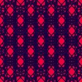 Rood en donkerblauw naadloos patroon Stock Afbeelding