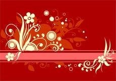 Rood en geel royalty-vrije illustratie