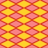 Rood en geel abstract patroon met ruit Royalty-vrije Stock Foto's
