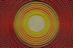 Rood en geel cirkelontwerp Stock Foto