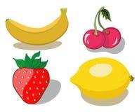 Rood en geel fruit Royalty-vrije Stock Foto's
