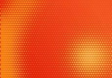 Rood en Geel Radiaal Halftone Dot Background vector illustratie