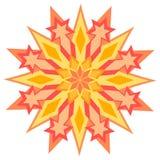 Rood en gele ster vector illustratie