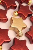 Rood en goud Stock Afbeelding