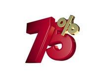 75% in Rood en gouden Royalty-vrije Stock Foto's