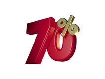 70% in Rood en gouden Royalty-vrije Stock Foto