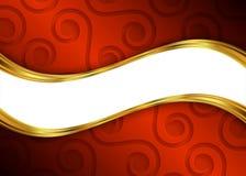 Rood en gouden abstract malplaatje als achtergrond voor website, banner, adreskaartje, uitnodiging Stock Foto's