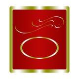 Rood en Gouden Etiket Royalty-vrije Stock Foto's