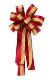 Rood en gouden lint Stock Afbeelding
