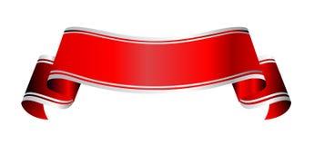Rood en grijze banner Stock Foto's