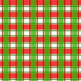 Rood en groen Schots patroon voor Kerstmis Royalty-vrije Stock Fotografie