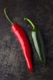 Rood en groene paprika Stock Foto's