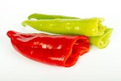 Rood en Groene paprika's Stock Afbeeldingen