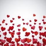Rood en pinks hartenachtergrond royalty-vrije illustratie
