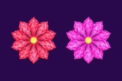 Rood en Roze Diamond Flower vector illustratie