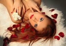 Rood en wit royalty-vrije stock afbeelding