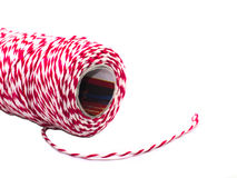 Rood en wit corduroy kabelbroodje Stock Foto's