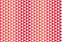 Rood en wit driehoekspatroon Naadloze vectorachtergrond Stock Afbeelding