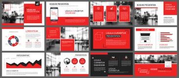 Rood en wit element voor dia infographic op achtergrond prese vector illustratie
