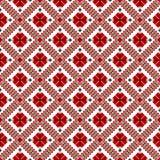 Rood en wit etnisch patroon royalty-vrije stock foto