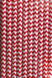 Rood en wit gestreept stro Stock Foto