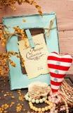 Rood en wit hart Stock Afbeeldingen