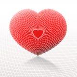 Rood en wit hart Stock Afbeelding