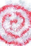 Rood en wit klatergoud Royalty-vrije Stock Foto's