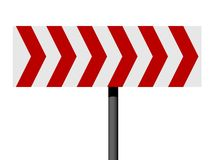 Rood en wit richtingsteken Royalty-vrije Stock Foto's